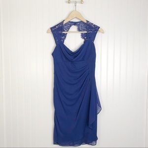 Collection dressbarn cobalt blue dress sleeveless